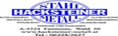 Stahl Metall Hacksteiner